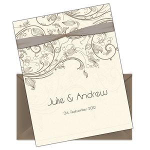 Our new letter style email wedding invitation design service